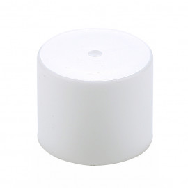 Ø17 Double plain cap -White